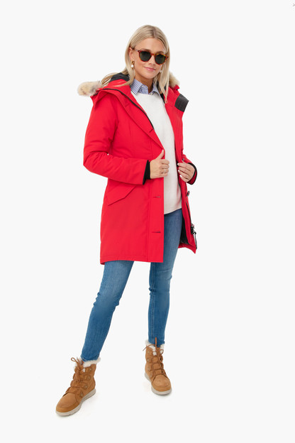 red rossclair parka