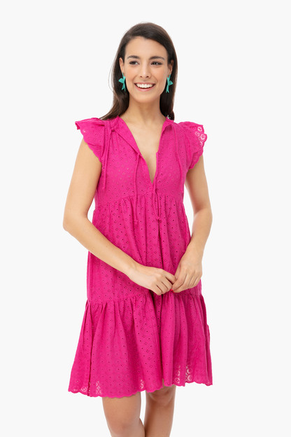pink eyelet angel dress
