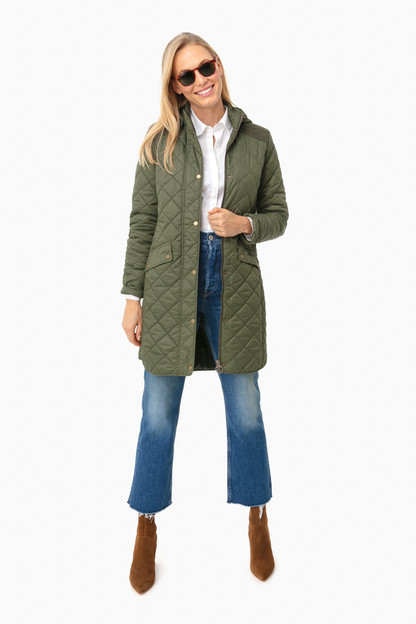 olive burne quilt jacket