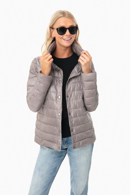 Zinc Aerielle Quilt Jacket Extra 25% Off with Code BERRY25