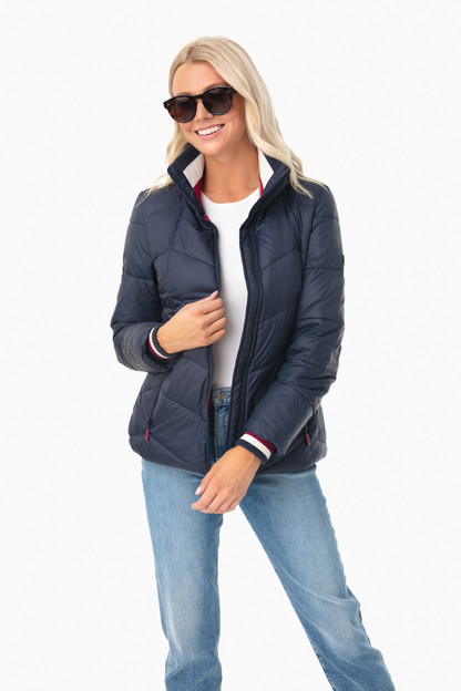 Navy Gangway Quilt Jacket This item is excluded from our friends and family sale.
