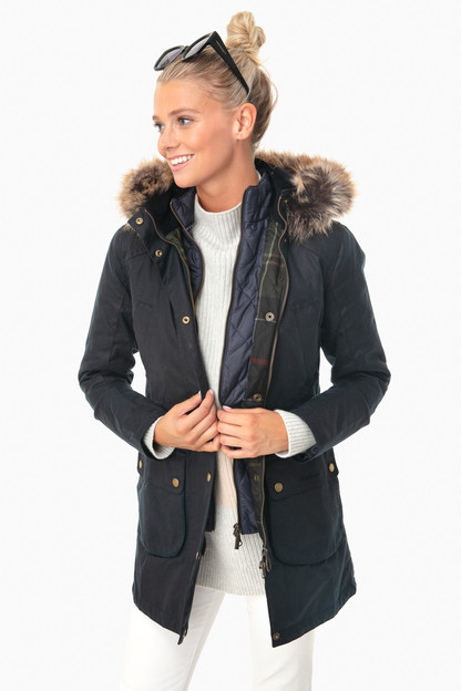 navy thurnton wax jacket