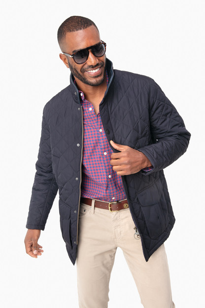 navy devon quilt jacket