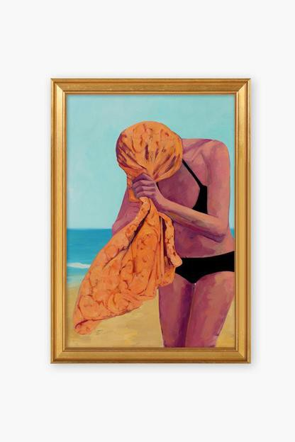 tangerine towel by t.s. harris