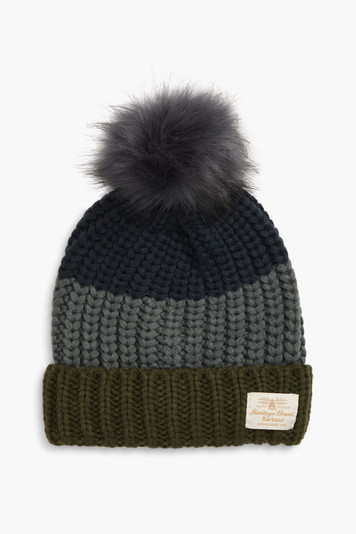 gray modern country beanie