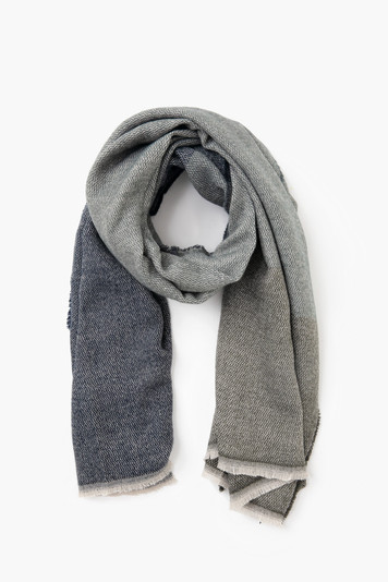 gray modern country scarf