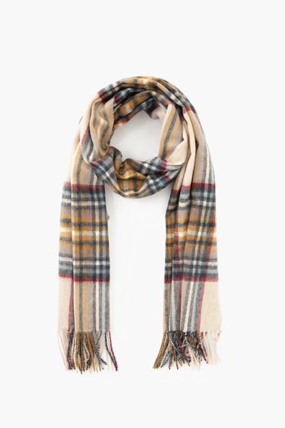 natural lonnen check scarf