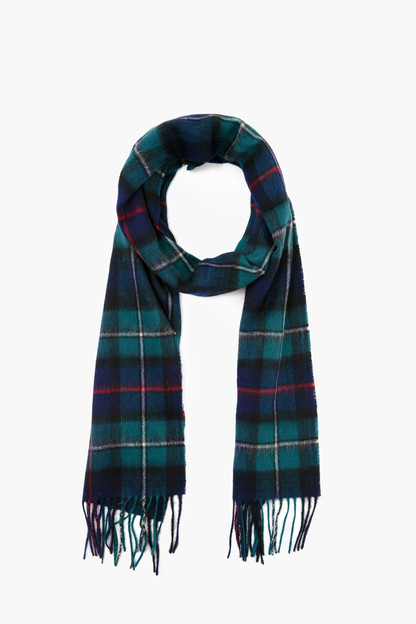 dark mackenzie new check tartan scarf
