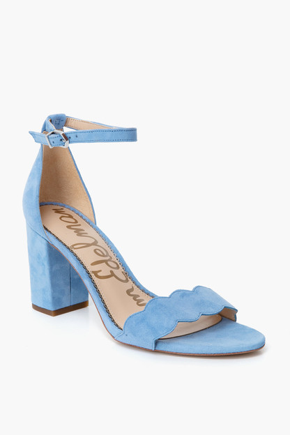 cornflower blue suede odila sandals