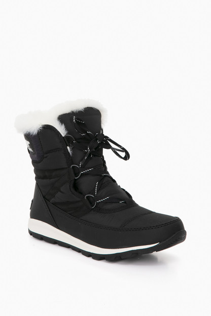 black whitney short lace boots
