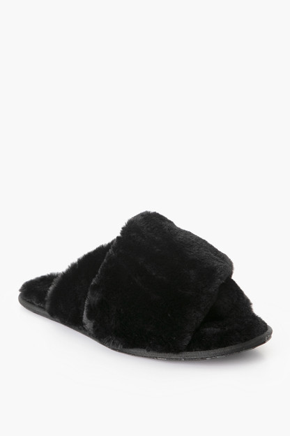 black hadley slippers