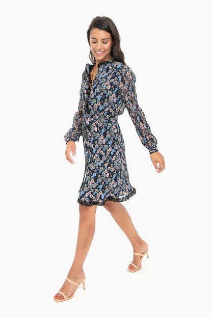 navy blossom ditsy deneuve dress