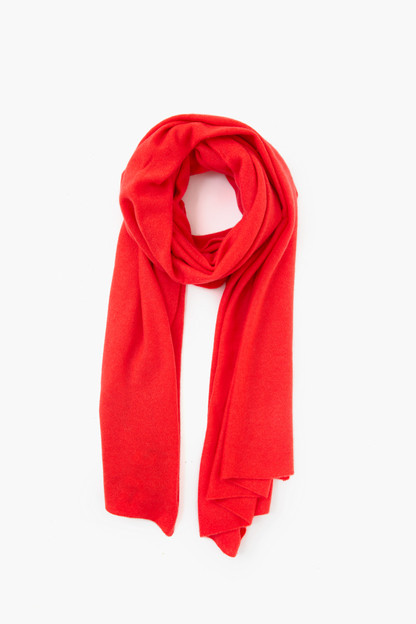 sunset red heather cashmere travel wrap