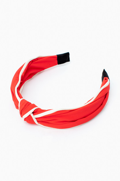 candy red knotted headband