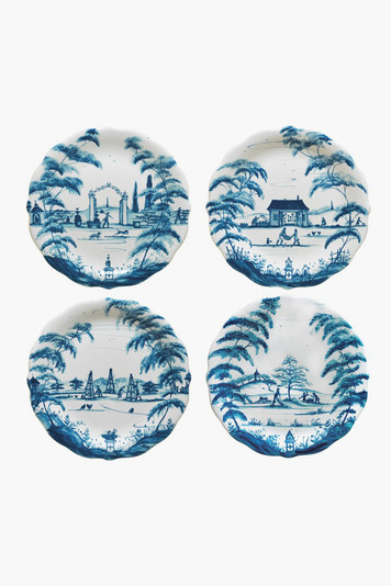 country estate party plates set of 4