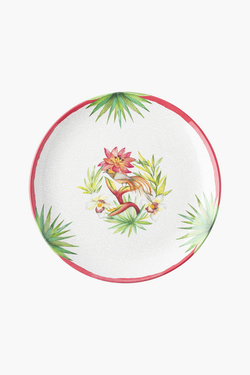 flora and fauna melamine dinner plate