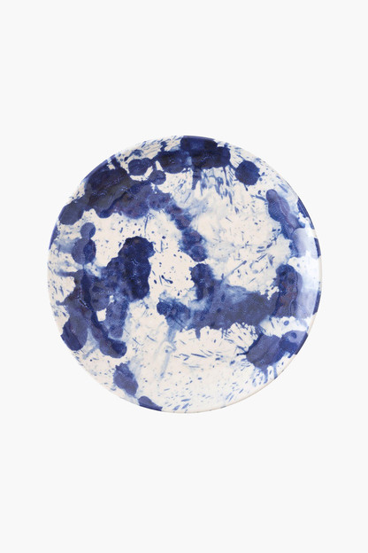 indigo splatter and spin melamine salad plate