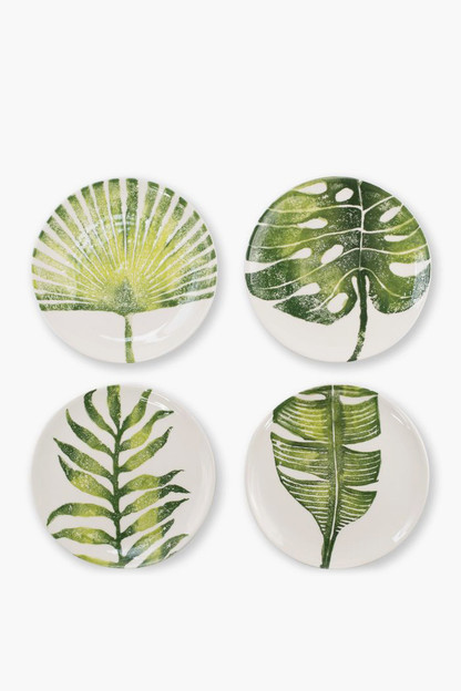 into the jungle assorted salad plates (set of 4)