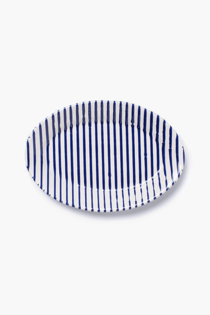 stripe small oval platter