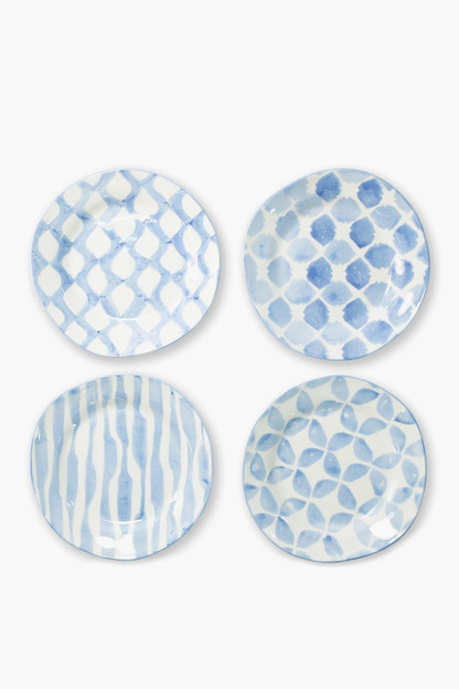 Modello Assorted Salad Plates - Set of 4 This item ships directly from the vendor within 3 business days.