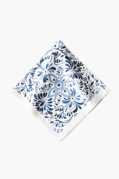 indigo iberian journey napkins (set of 4)
