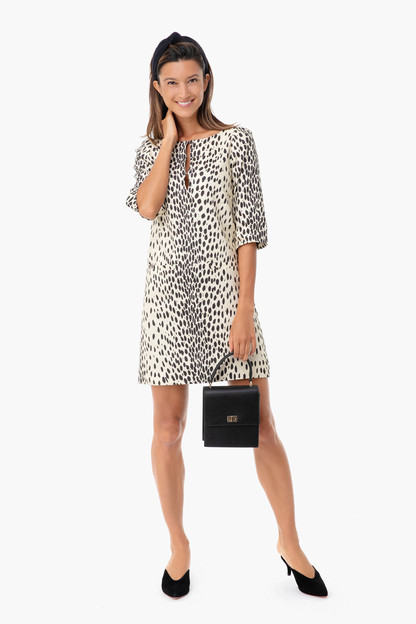 leopard linen london dress
