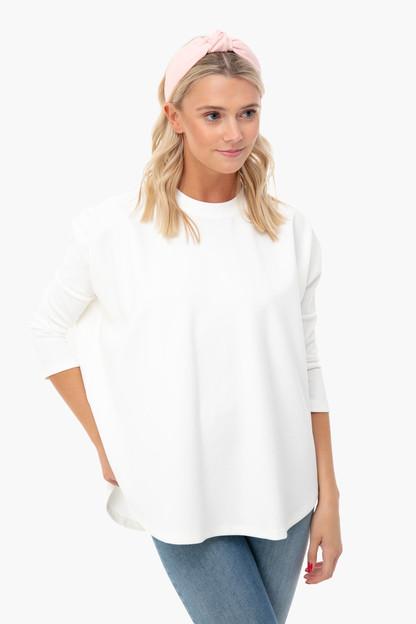 white evie swing sweatshirt