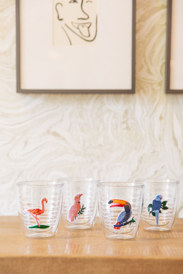 birds of paradise tumblers (set of 4)