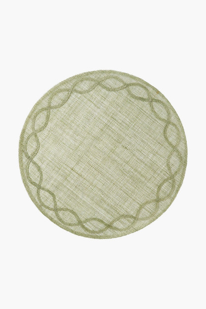 pistachio tuileries garden placemat (set of 4)