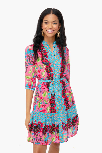 berry border tyra dress