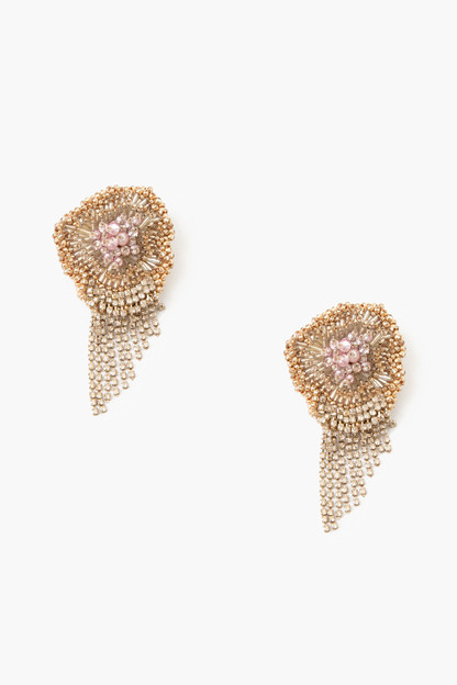 pink milly chain earrings