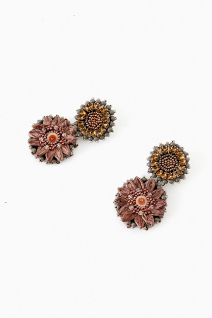 mauve mini molly earrings