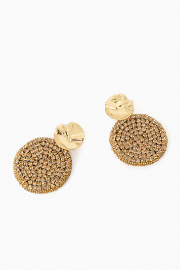 gold kaya round earrings