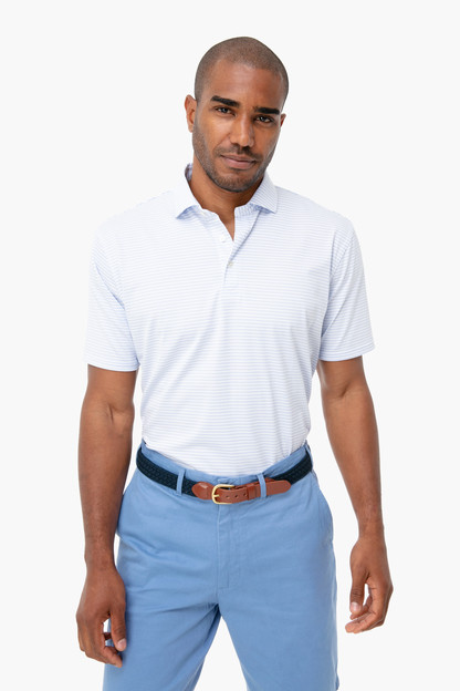 white sky campbell performance polo shirt