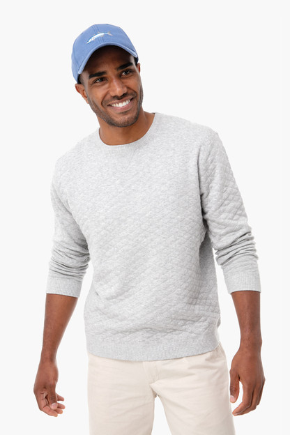 gray ward quilted sweater