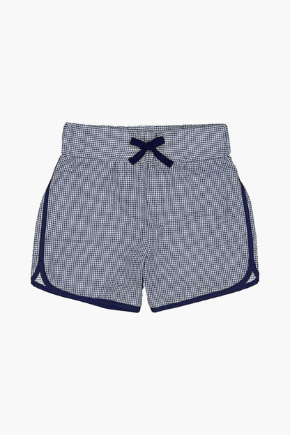 gingham rugby shorts