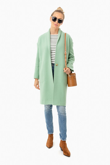 cambria collarless long coat