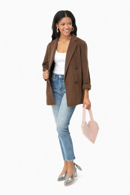 woodbine double breasted cardigan coat