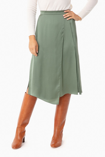 sage flint drape panel skirt