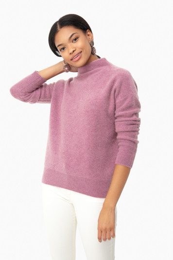 heather amarena funnel neck pullover