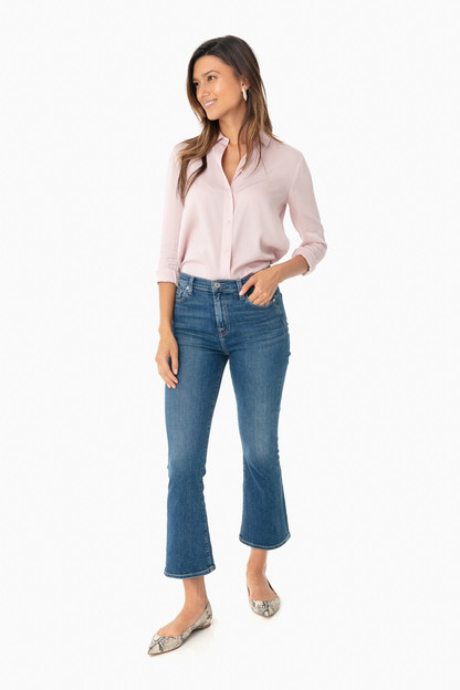 rosa seco slim fitted blouse