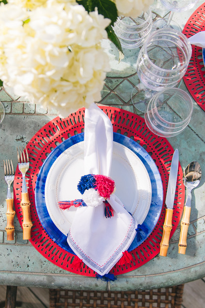 pom pom napkins (set of 4)