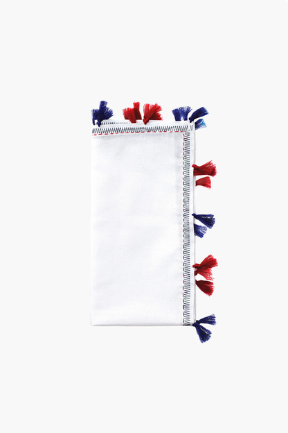 Pom Pom Napkins (Set of 4) This item ships directly from the vendor within 3 business days.