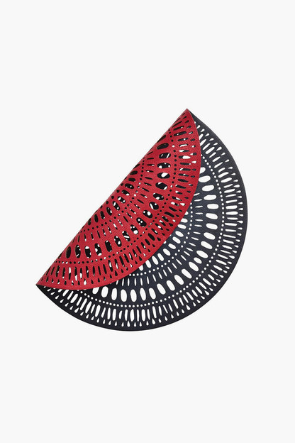 Navy/Red Reversible Fiesta Placemats (Set of 4)