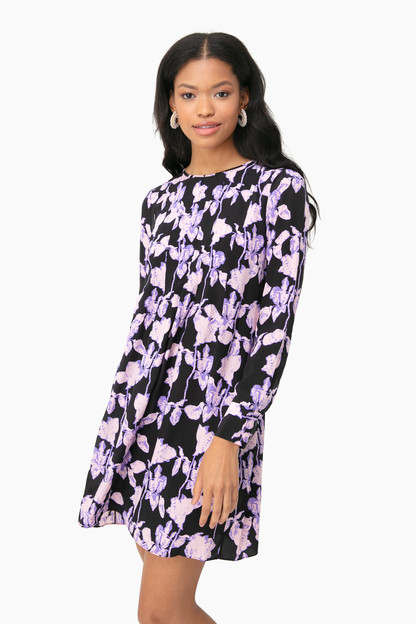midnight forest black joyce dress