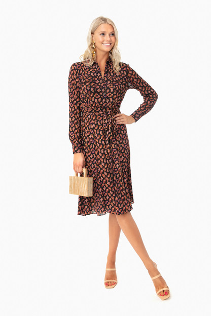 tie paisley black andi dress