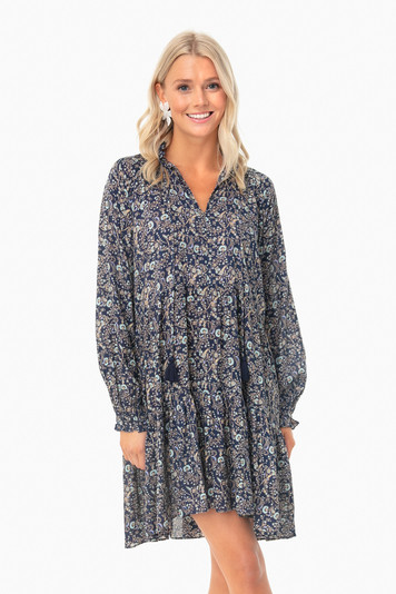 blue garden forest janni dress