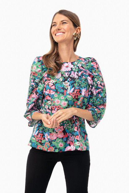 Nightfall Floral Clare Top
