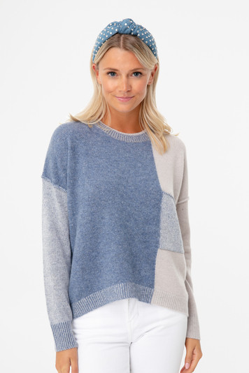copen blue ila colorblock sweater