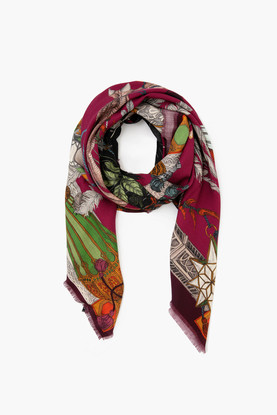 the opulent ostrich silk scarf